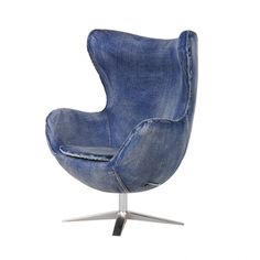 Blue Jeans Leisure Chair - Deeply cupped seat and padded arms Contemporary Armchair, Contemporary Furniture, Devon, Green Family Rooms, Retro Armchair, Website Design, Fabric Armchairs, Beds Online, Egg Chair