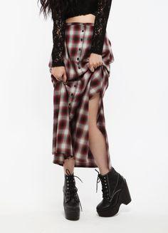 Wasteland Skirts - ShopWasteland.com - UNIF Nevermind Plaid Skirt