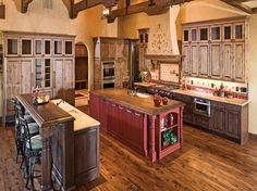 Rustic Italian Decorating Ideas with wooden floor