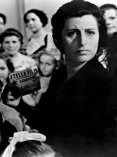 "Anna Magnani in ""Bellissima"" (1951) Country: Italy. Director: Luchino Visconti."