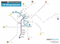 pricemap-underground-update_U2U5 U Bahn, Vienna, Line Chart, Blog, Map, Infographics, Random, New Home Essentials, Infographic