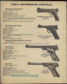 1975 COLT WODSMAN Match Target and Sport, Targetsman, Huntsman Pistol AD
