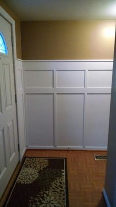 Wainscot, front entrance after