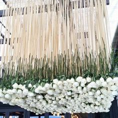 This is definitely is how you hang a floral_chandelier!!