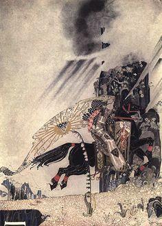 """Kay Nielsen- ilustrador danés muy popular a principios del siglo 20. Quizás el trabajo de ilustración más famoso que realizo fue para """"Al Este del Sol y al Oeste de la Luna. Antiguos cuentos Nórdicos"""""""