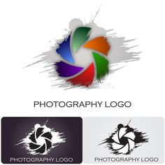 Illustration about Logo design for a photography company. The aperture have a nice brush style. Illustration of camera, green, conceptual - 26500854