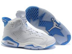 b4457e1b8bb99 Nike Air Jordan 6 Women Shoes In White Skyblue. Chaussure Basket NikeNike  RequinChaussures BébéBlanc ...