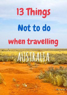These tips show you how to save money on your trip and wht things not to do when…