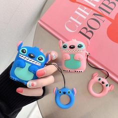 Cartoon Cute Box Wireless Bluetooth Headset Case for Apple Airpods 1 2 Earphone Soft Silicone Cover For Airpods Protective Cases Lilo Et Stitch, Disney Stitch, Stitch And Angel, Stitch Cartoon, Apple Airpods 2, Accessoires Iphone, Pink Panda, Earphone Case, Cute Box