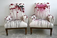 Furniture - Timorous Beasties - re-upholstered antique chairs