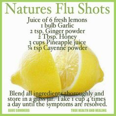The all natural way of staying healthy this flu season!