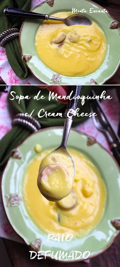 Tem coisa melhor na vida do que uma Sopa Creme de Mandioquinha com Cream Cheese para manter o inverno bem distante? Fica muito cremosa e para lá de gostosa!