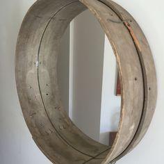 Vintage sand sieve mirror