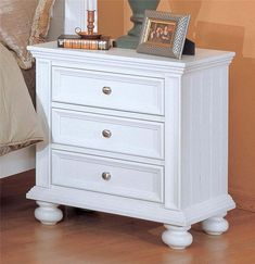 Cape Cod  Three Drawer Night Stand by Winners Only