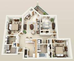 The Sequoia floor plan for Hidden Oak Apartments