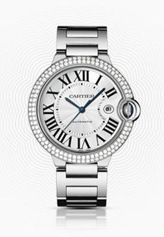 Cartier Ballon Bleu - White Gold & Diamond Bezel
