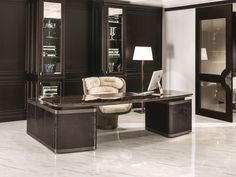 Wooden writing desk with drawers ECTOR Loveluxe - Regency Collection by Longhi design Elle Studio