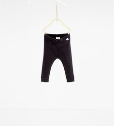 Organic cotton ribbed leggings-SKIRTS AND TROUSERS-BABY GIRL | 3 months-4 years-KIDS | ZARA Finland