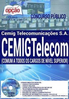 Concurso CEMIGTelecom 2016  COMUM A TODOS OS CARGOS DE NÍVEL SUPERIOR
