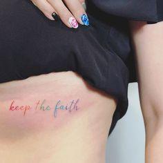 Keep the faith, by Raice Wong