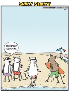 Sunny Street on Gocomics.com  Sunny Street, Gocomics, New, Daily, Cartoon, comic, cow, beach, nude, funny, lol, ha, humor