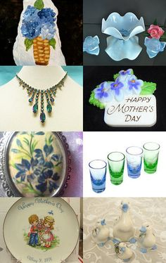 Vtpassion Favorite Mother's Day Gifts to match the Blue, Green and White Hydrangeas by Lauren on Etsy--Pinned with TreasuryPin.com