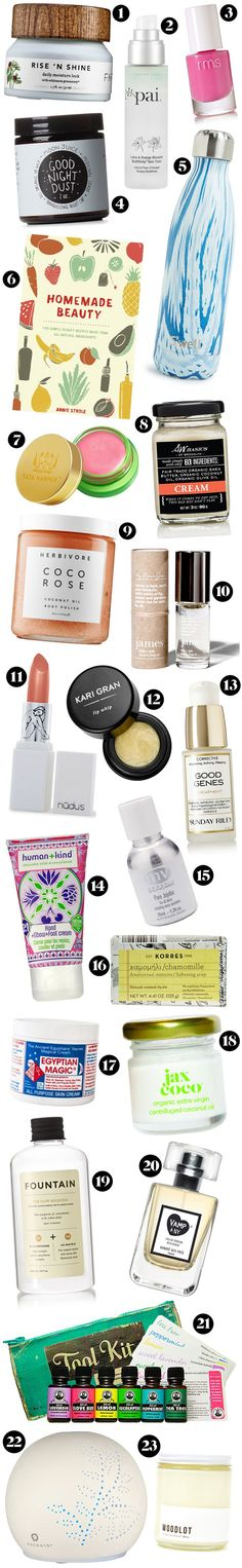 23 natural beauty gift ideas: http://beautyeditor.ca/2015/11/25/natural-organic-beauty-gifts