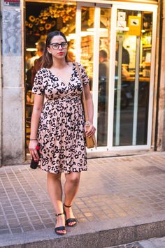 AN ANIMAL PRINT WREN DRESS