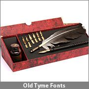 Wow...actual nibs and ink pen set...wonder if this could be used somewhere...invites? notes?