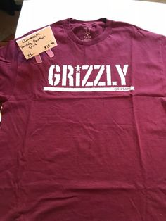bc8433581 Authentic Grizzley Griprtape Burgundy Tee XL #fashion #clothing #shoes  #accessories #mensclothing #shirts (ebay link)