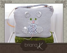 Cat Yarn Crochet Project Bag Pattern by Briana K