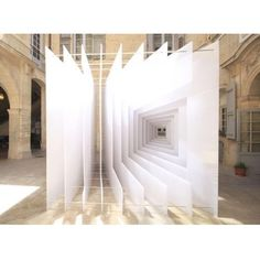 """Optical illusion structures by studio Paul Scales and the architecture firm, Atelier Kit"""