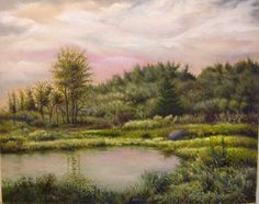 "Saatchi Art Artist Timothy Henneberry; Painting, ""Pond at Dawn"" #art"