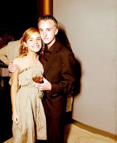 Emma Watson and Tom Felton. love them.