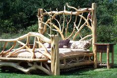 So rustically awesome! And the cool thing is,it doesn't have to be totally country looking. With the right bedding and other furniture,this bed could work with a modern space as well:)
