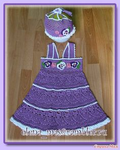 Crochet Knitting Handicraft: crochet Girl's pansy