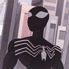 Spectacular Spider Man, Amazing Spider, Spiderman Black Suit, Mundo Marvel, Man Icon, Black Suits, Dark Fantasy Art, Marvel Art, Venom