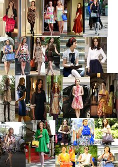 Blair's style is very classic and feminine. She is rarely seen wearing trousers, opting for the more girly look wearing skirts, high he. Gossip Girl Serena, Estilo Gossip Girl, Blair Waldorf Gossip Girl, Blair Fashion, Fashion Tv, Fashion Looks, Fashion Outfits, Gossip Girl Outfits, Gossip Girl Fashion
