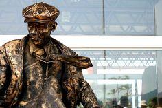 estatua viva bronze