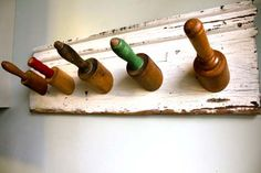 Vintage Rolling Pin Coat Rack