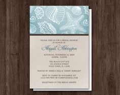 Rustic Turquoise Beach Linen Bridal Shower by ArtisticallyInvited