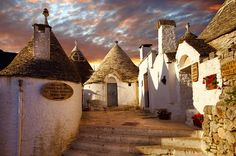 Trulli houses of Alberobello, Puglia, Italy. From the region my grandmother was from!