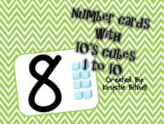 I will print them small and use as a differentiated (visual) number card for games/centers.