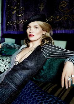Kate Moss By Mario Testino For Vogue US, December 2013