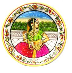 Delicately handcrafted antiques chosen to give you a royal feel of Rajasthan. - See more at: http://potofgoodies.com/Marble-Artefacts/carved-painting-in-marble-plate---6--inch-76546071