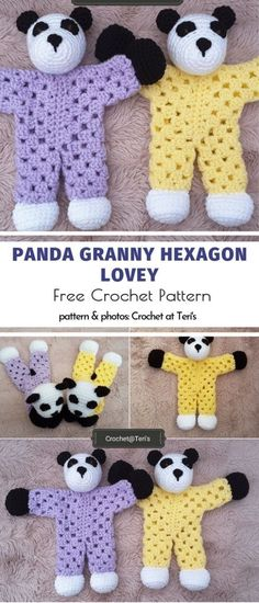 Cuddly Softies Crochet Ideas Panda Granny Hexagon Lovey kostenlose Häkelanleitung Amigurumi and Toys loose (Visited 2 times, 1 visits today) Crochet Panda, Crochet Animals, Crochet Rabbit, Softies, Crochet Amigurumi Free Patterns, Crochet Dolls, Free Crochet Pattern Animals, Crochet Crafts, Crochet Projects