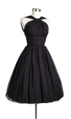 Black Halter Ruching Waist Short Cocktail Dresses KSP309