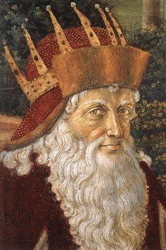 Benozzo Gozzoli - Procession of the Oldest King (detail). Дворец Медичи-Риккарди (Флоренция) - Часовня волхвов. Беноццо Гоццоли. (1420-1497). Шествие старейшего короля. Западная стена (деталь).