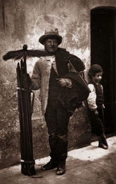 The Temperance Sweep' and a barefooted boy small enough to fit inside narrow passages. Original Artwork: From 'Street Life in London' by John Thomson and Adolphe Smith - pub. 1877 (Photo by John Thomson/Getty Images)