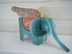 toy paper elephant from Nice Paper Toys